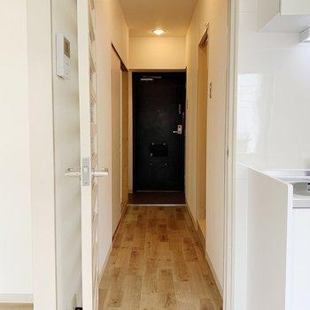居室から玄関へ直通!