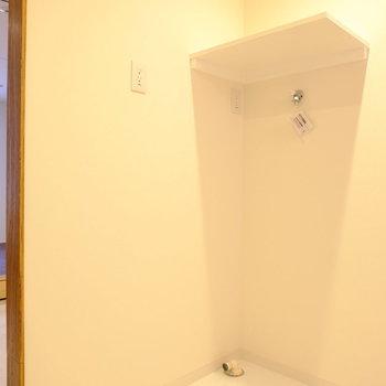 洗濯機置き場も完備