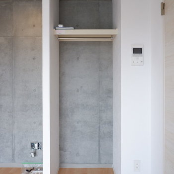 オープンクローゼットで省スペースに。※写真は4階の同間取り別部屋のものです