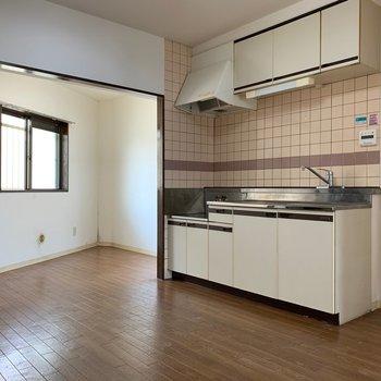 【工事前】キッチンの奥の空間が広い土間に変身します◎