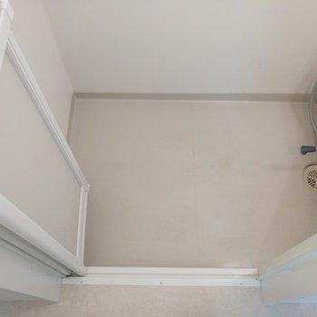 ちょっと広めなシャワールームですね〜※写真は2階の同間取り別部屋のものです