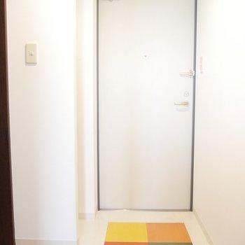 玄関の4色カラーがかわいい♪