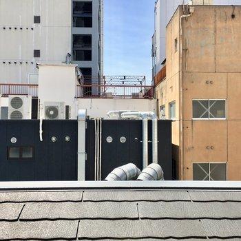建物が密集しているので、眺望はこんな感じ。