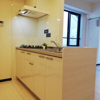 収納力もありそうなキッチン♪※写真は3階の同間取り別部屋のものです