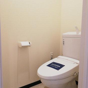 トイレはウォシュレットで快適◎※写真は3階の同間取り別部屋のものです