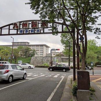 マンション出たらすぐ舞鶴公園入り口!!なんたる羨ましさ!!!