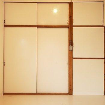 【洋室②】さあどこが開くかな。