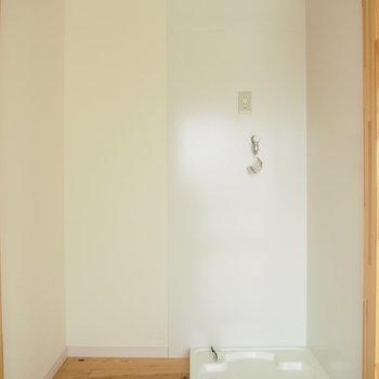 洗濯機置き場は室内に