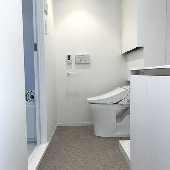 さて、ひろい脱衣所です※写真は4階の同間取り別部屋のものです