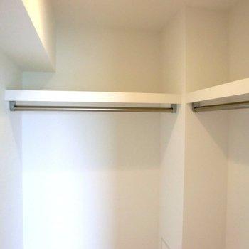 ウォークインの中。 ※写真は10階の同間取り別部屋のものです