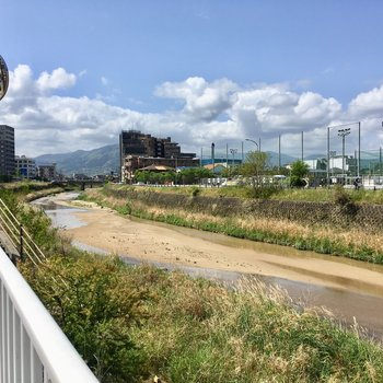 近くには、樋井川。お散歩気持ちよさそうね。