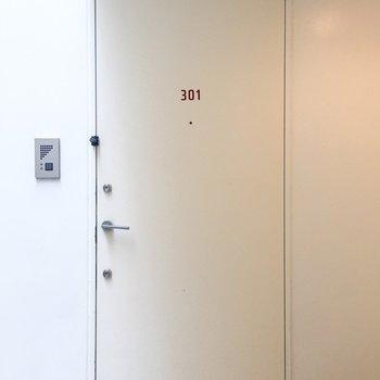 お部屋のドアがかわいいんです。