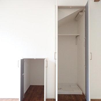 【LDK】洗濯機は隠すことができます、うれしいポイント。