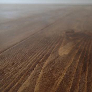 【LDK】パイン材の無垢床、足触りがたまらないです。
