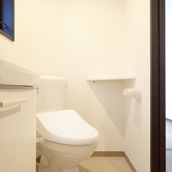 トイレも一緒、ギュギュッとしてますね。
