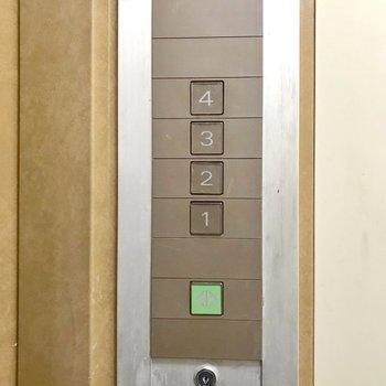 エレベーターではお部屋の階に行けません。
