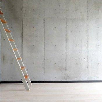 コンクリート打ちっぱなしの壁が素敵。