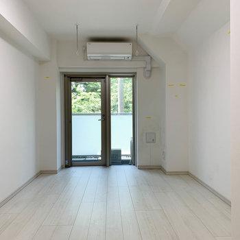 扉側から見ると。ややアーチっぽくなってるのが、トンネルっぽくて可愛いですね。