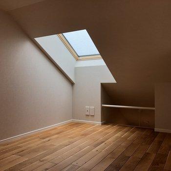ロフトは天窓付きなので、ここを寝室にすると朝日とともに目覚められそうですね