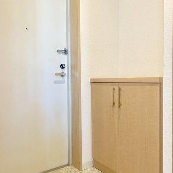玄関床はタイル貼りです