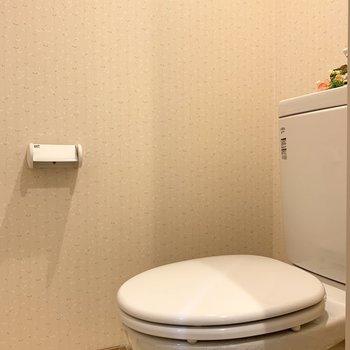 トイレのクロスもさり気なくお洒落◎