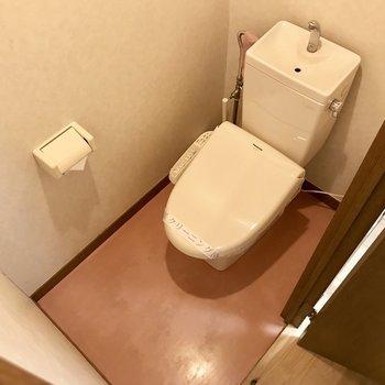 トイレは上品なピンクなの