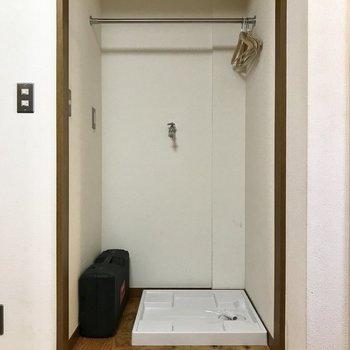 洗濯機置き場はカーテンで隠しちゃいましょう