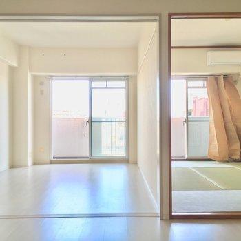 洋室和室の境界線!※写真は11階の同間取り別部屋のものです