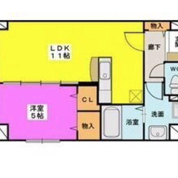 LDKと洋室を3枚の引き戸で仕切るタイプ。