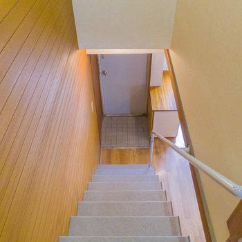 最後に玄関周りと、1階からの景色を。