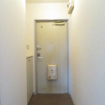 玄関も広々ですね