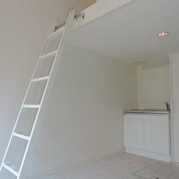 床と梯子がかわいい※写真はクリーニング前です