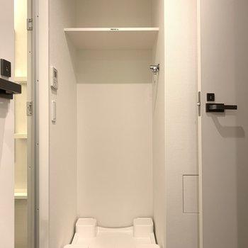 上にカゴとか洗剤とか置けますね。※写真は似た間取りの5階の別部屋の写真です