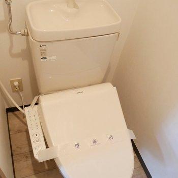 シャワー付きお手洗いが嬉しい