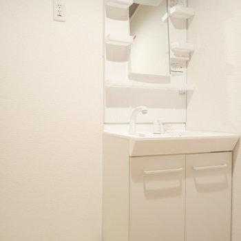 洗面台も使いやすく