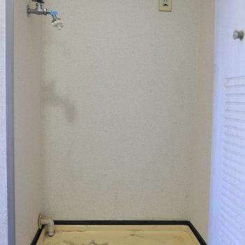 洗濯機は扉の中へどうぞ。※写真はクリーニング前のものです