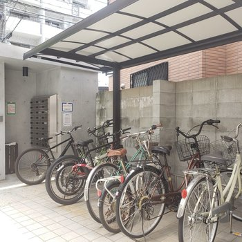 自転車通勤の方も安心!
