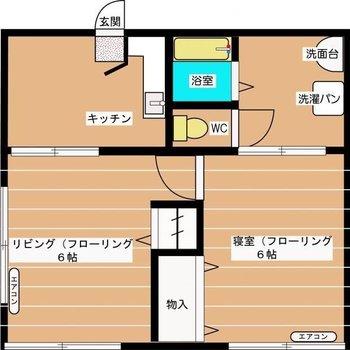 1つずつの空間が独立しており、メリハリのあるお部屋!