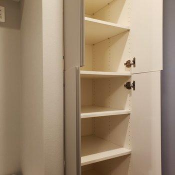 タオルや洗剤のストックを入れて置こうかな。※写真は5階の同間取り別部屋のものです