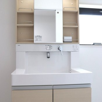 ベージュボードの洗面台※ 写真は前回募集時のものです
