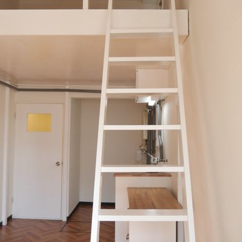 はしごを登っていきますよ〜