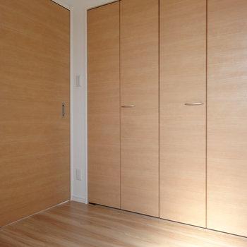 こちらは洋室。クローゼットも大きい!※写真は2階の同間取り別部屋のものです