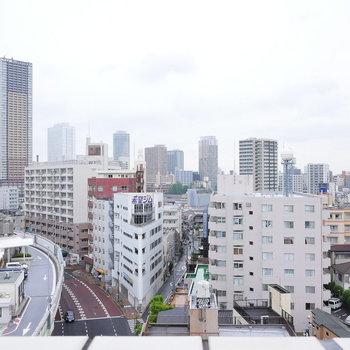 東京の街を一望。