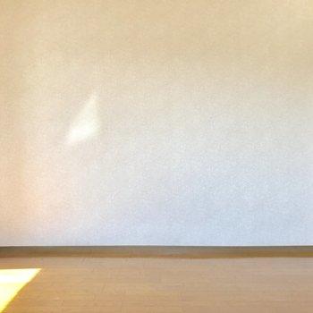こちらには壁寄せで家具を置きやすいね。