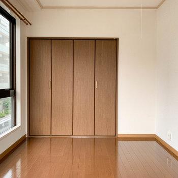 【洋室6帖】大型の収納がありますよ。
