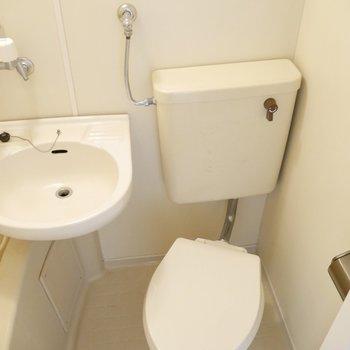 3点ユニットなのでお隣にお手洗いがあります♪※写真は清掃前のものです。