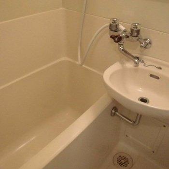 水回りは我慢。。。※写真は4階の反転間取り別部屋のものです