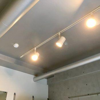 シルバーな天井のこの感じ、ワクワクします!※写真は1階の同間取り別部屋のものです