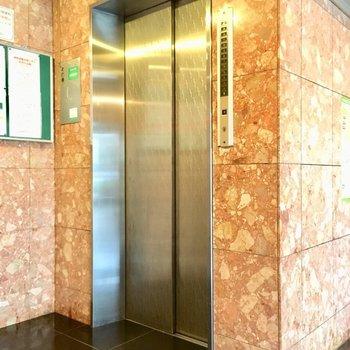 しっかりエレベーターあります。