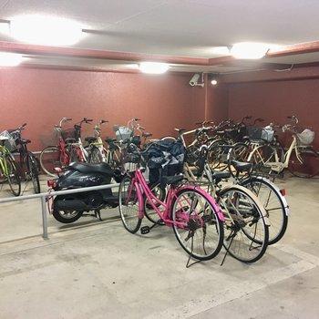 自転車置き場ありました。